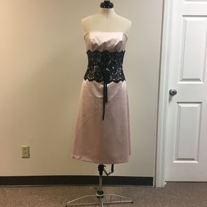 Silk Pink Strapless Dress